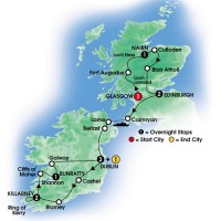 Taste of Scotland Ireland Map